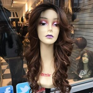 Accessories - Wig Long ombré warm brown 13x6 long curly Alopecia